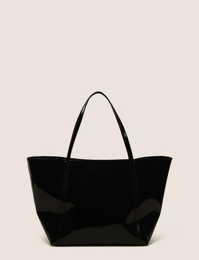 LARGE PATENT CHARM TOTE