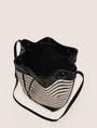 ARMANI EXCHANGE METALLIC WEAVE BUCKET BAG Satchel bag Woman d