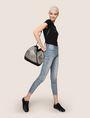 ARMANI EXCHANGE METALLIC WEAVE BUCKET BAG Satchel bag Woman e