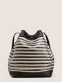 ARMANI EXCHANGE METALLIC WEAVE BUCKET BAG Satchel bag Woman r