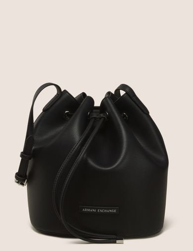 MONSTERA-LINED BUCKET BAG
