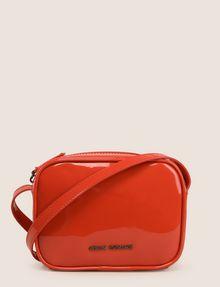 ARMANI EXCHANGE PATENT ZIP-TOP CROSSBODY Crossbody bag Woman f