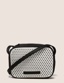 ARMANI EXCHANGE DIAMOND PERFORATED ZIP-TOP CROSSBODY Crossbody bag Woman f