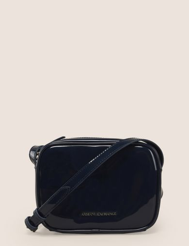 PATENT ZIP-TOP CROSSBODY
