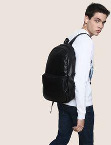 ARMANI EXCHANGE FAUX-LEATHER LOGO BACKPACK Backpack Man e
