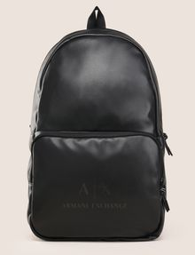ARMANI EXCHANGE FAUX-LEATHER LOGO BACKPACK Backpack Man f