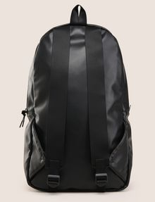 ARMANI EXCHANGE FAUX-LEATHER LOGO BACKPACK Backpack Man r