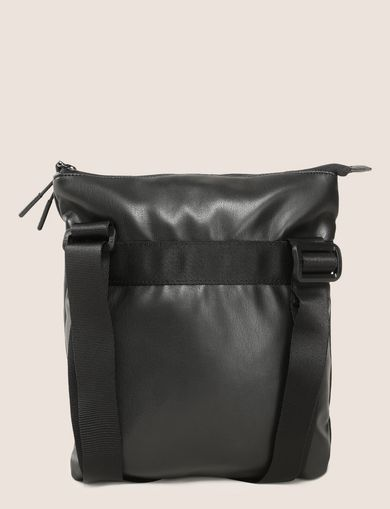 FAUX-LEATHER LOGO CROSSBODY