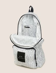 ARMANI EXCHANGE NYLON TESSELLATED LOGO BACKPACK Backpack Man d
