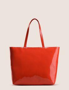 ARMANI EXCHANGE PATENT ZIP-TOP TOTE Tote bag Woman r
