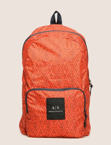 NYLON TESSELLATED LOGO BACKPACK