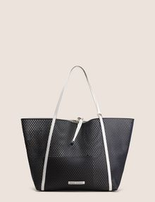 021ca1b9e83a Armani Exchange MESH PERFORATED TOTE