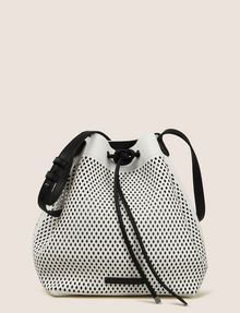 ARMANI EXCHANGE MESH PERFORATED BUCKET BAG Satchel bag Woman f