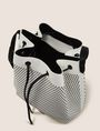 ARMANI EXCHANGE MESH PERFORATED BUCKET BAG Satchel bag Woman d