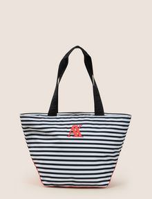 Armani Exchange Striped Embroidered Logo Tote Bag Pickupinshipping Info