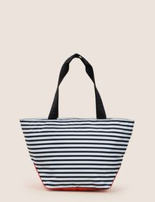 ARMANI EXCHANGE STRIPED EMBROIDERED LOGO TOTE Tote bag Woman r