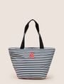 ARMANI EXCHANGE STRIPED EMBROIDERED LOGO TOTE Tote bag Woman f