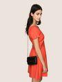ARMANI EXCHANGE PATENT-EFFECT FAUX-LEATHER CROSSBODY Crossbody bag Woman e