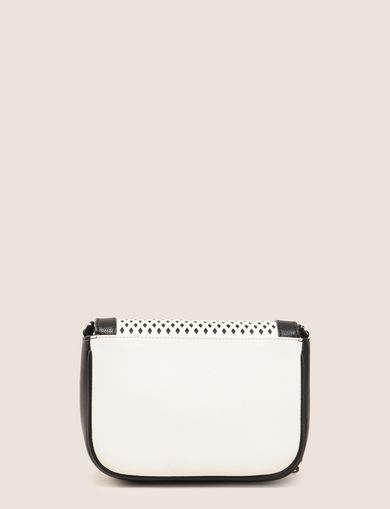 MESH-EFFECT FAUX-LEATHER CROSSBODY