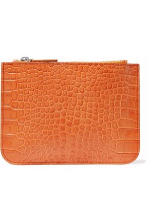 IRIS & INK Blake croc-effect leather pouch