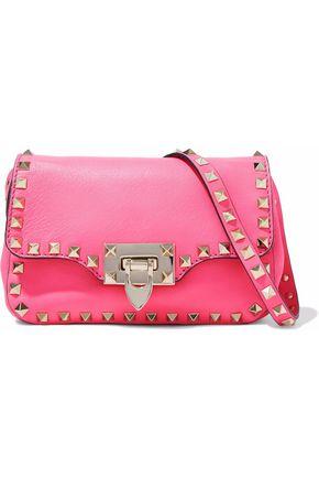 VALENTINO GARAVANI Rockstud neon leather shoulder bag