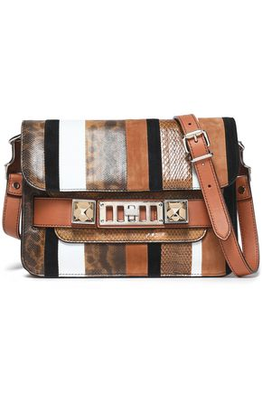 PROENZA SCHOULER PS11 paneled karung, ayers, and leather shoulder bag