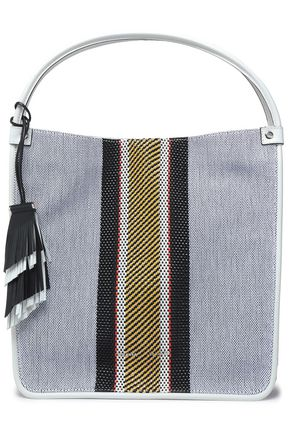 PROENZA SCHOULER Striped canvas tote bag