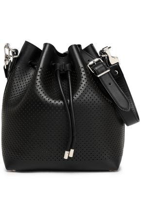 PROENZA SCHOULER Perforated neon leather bucket bag