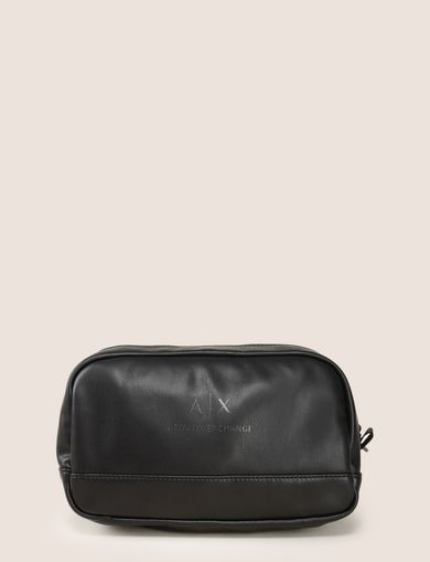 FAUX-LEATHER LOGO DOPP KIT