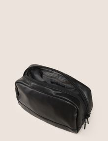 ARMANI EXCHANGE FAUX-LEATHER LOGO DOPP KIT Travel Bag Man d