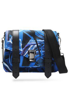 PROENZA SCHOULER PS1 leather-trimmed printed canvas shoulder bag