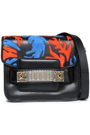 PROENZA SCHOULER PS11 suede-paneled embellished leather shoulder bag