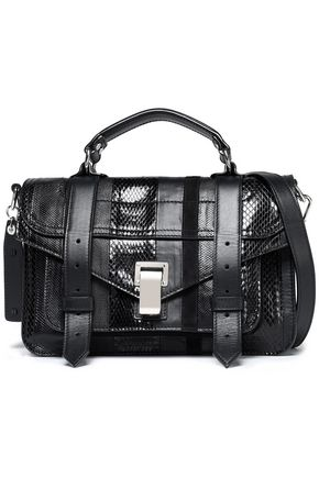 PROENZA SCHOULER PS1 paneled karung, ayers, and leather shoulder bag