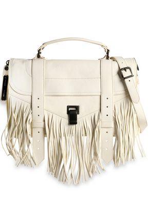 PROENZA SCHOULER PS1 fringed brushed-leather shoulder bag