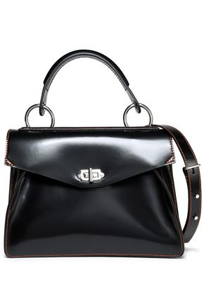 PROENZA SCHOULER Hava glossed-leather shoulder bag