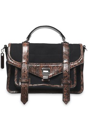 PROENZA SCHOULER PS1 canvas, karung, ayers, and leather shoulder bag