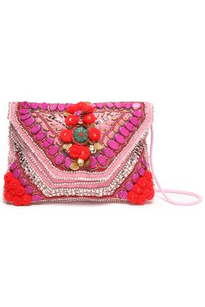 ANTIK BATIK Embellished cotton shoulder bag