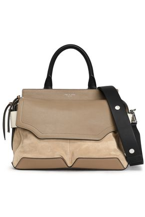 RAG & BONE Pilot leather and suede shoulder bag