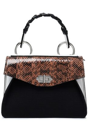 PROENZA SCHOULER Hava canvas, elaphe, ayers and leather shoulder bag