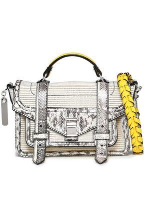 PROENZA SCHOULER PS1 elaphe-trimmed canvas shoulder bag