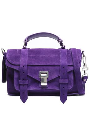 PROENZA SCHOULER PS1 suede shoulder bag