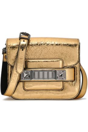 PROENZA SCHOULER PS11 embellished mirrored cracked-leather shoulder bag