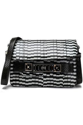 PROENZA SCHOULER PS11 Mini elaphe-trimmed striped ayers shoulder bag