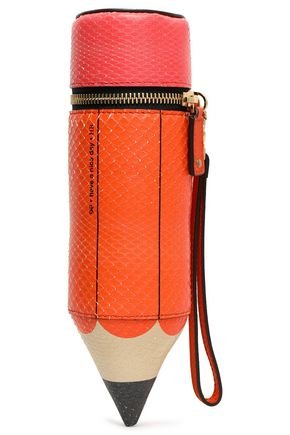 ANYA HINDMARCH Pencil Case printed python clutch
