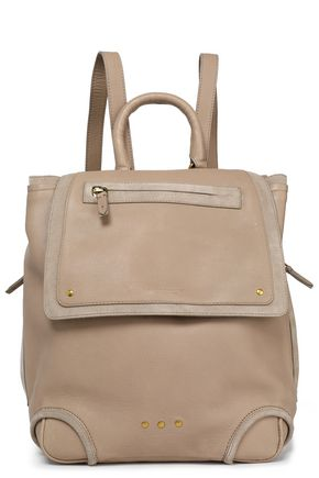 JÉRÔME DREYFUSS Suede-trimmed leather backpack