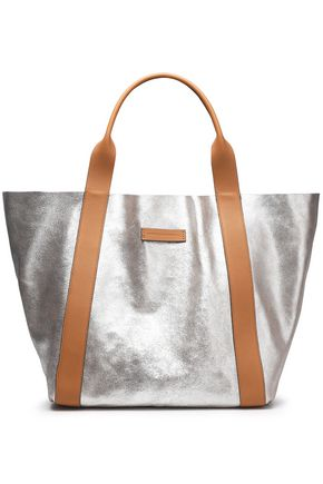 BRUNELLO CUCINELLI Metallic textured-leather tote