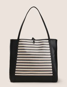 ARMANI EXCHANGE METALLIC WEAVE TOTE BAG Tote bag Woman r