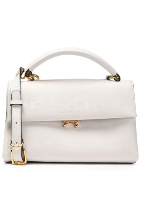 MARNI Pebbled-leather shoulder bag