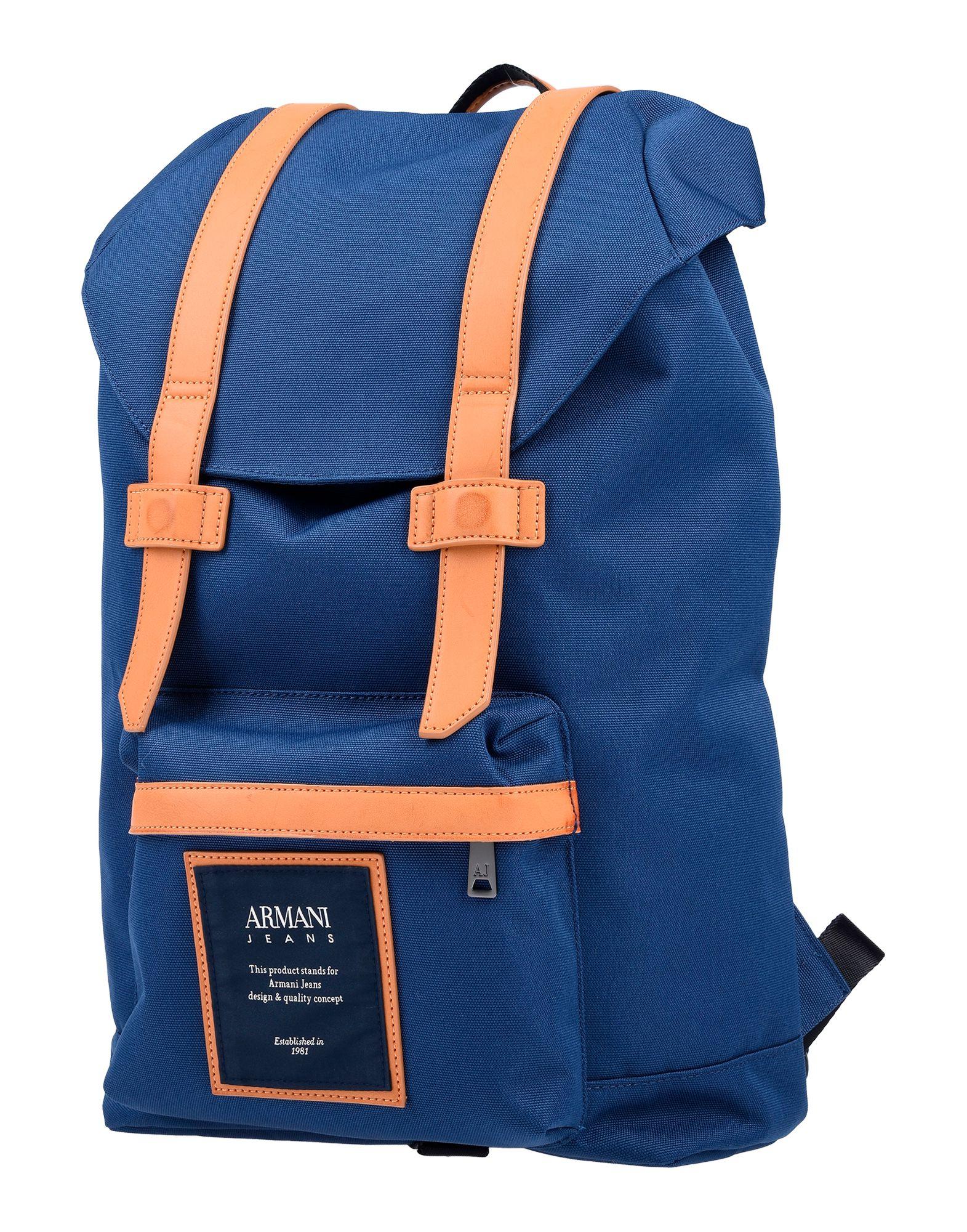 29537347d 《送料無料》ARMANI JEANS メンズ バックパック&ヒップバッグ ブルー ポリエステル 100%
