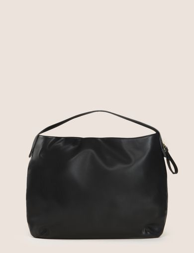 ZIP ACCENT HALFMOON SATCHEL